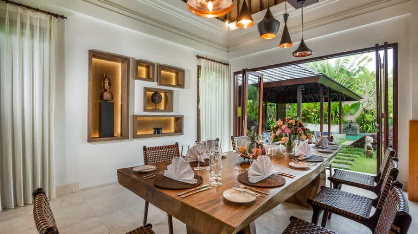 Dining Area--Freehold Contemporary Luxury in Stylish Seminyak, Bali