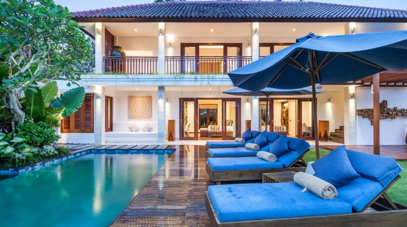 Evening View --Freehold Contemporary Luxury in Stylish Seminyak, Bali