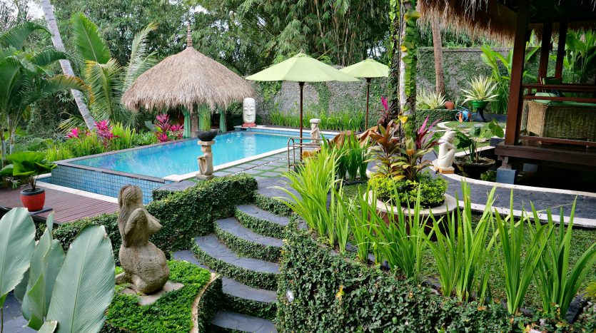Freehold villa for sale with jungle view-Outdoor and pool